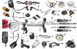 High quality motorcycle parts for WY125,WY150,WY200,WY250
