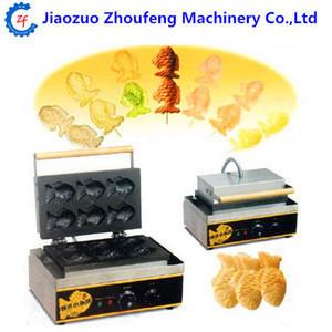 Hot sale electric Korean fishcake waffle forming machine fish shape cake baking equipment