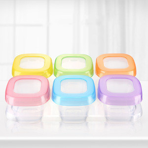 Hot selling Portable Breast Milk/fruit/juice/snack Storage Cup Set transparent Food Container for baby