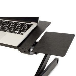 Hot Selling Portable Foldable Adjustable Aluminum Laptop Stand with Cooling Fan and Mouse Pad for Laptop and Macbook
