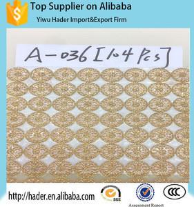 Lct ss6 Hot Fix embroidered sequins flower motif rhinestone mesh sheet Sarees cloth motif strass