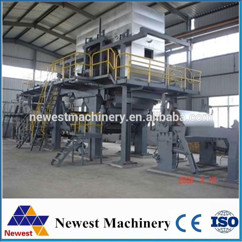 Low price paper roll production line/kitchen paper making machine/toilet tissue paper making machine from wood pulp