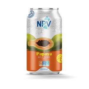 Manufacturer Beverage Compay Best Quality Fruit Juice Drink 330ml Can Hot Product PAPAYA JUICE DRINK