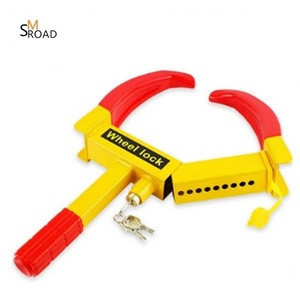 Manufacturer price Anti theft Motorbike tire safety lock wheel clamp car steering wheel lock