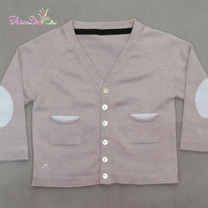Many years factory knitting baby v neck buttons sweater