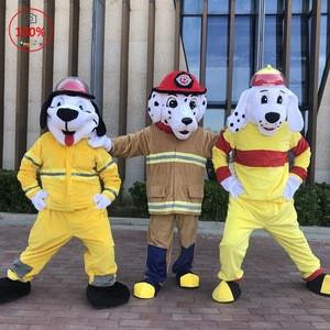 N77 Animal Costume Fire Dog Mascot Costumes For Adult