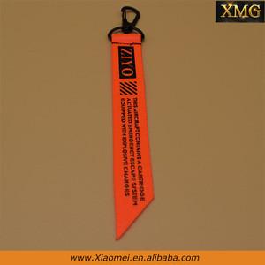 New fashion orange ribbon nickel -free metal key locking zipper sliders XM-ZS0042