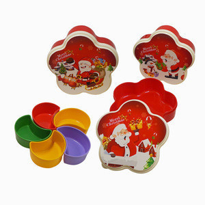 Plum shape plastic fresh container,Plum Shaped Candy Storage Box Sweets Peanut Organizer Appetizer Plate Snack Container 5 Compa