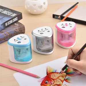 Portable Automatic Two-hole Electric Touch Switch Pencil Sharpener For Home Office School