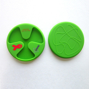 Silicone wine glass marker Anti-slip Silicone Red Wine & Tea & Coffee Cup Mat / Cup Lid
