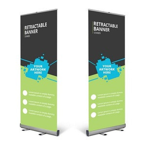 Trade show use display stand roll up banner exhibition poster board