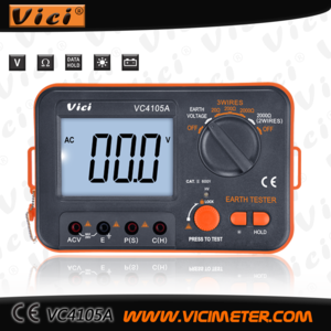 VC4105A digital ground resistance meter with data hold