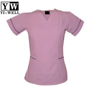 Wholesale factory OEM women V neck nurse uniform nursing scrubs