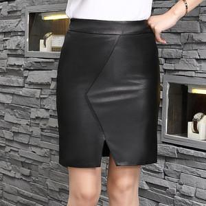 Women's Elegant Wrap Leather Skirt  A-Line Pencil Skirt Womens Fall Fashion 2020