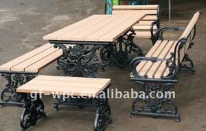 Wood plastic composite wpc outdoor products,garden slats bench