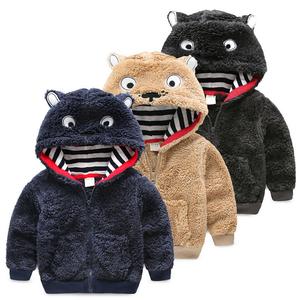 Z88505C fashion style fleece cartoon children coats