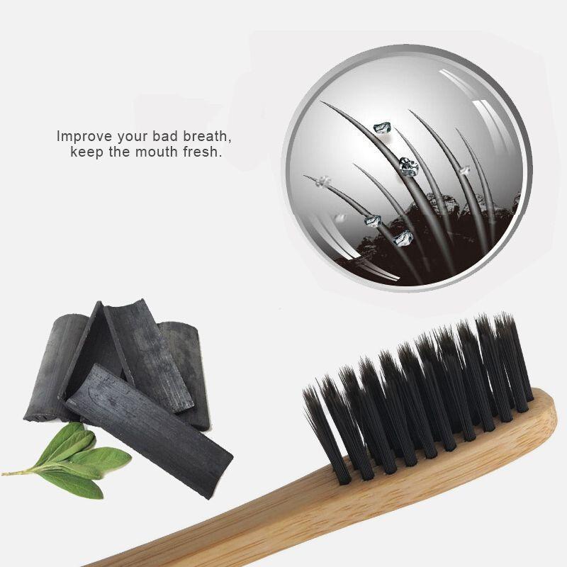 Decorative Bamboo Toothbrush Black