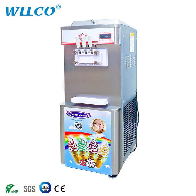 Wellcooling 2+1 Mixed Flavors Soft Ice Cream Machine