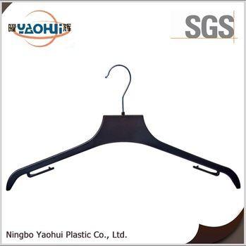 3432 new product cloth hanger with metal hook wet plastic coat hanger