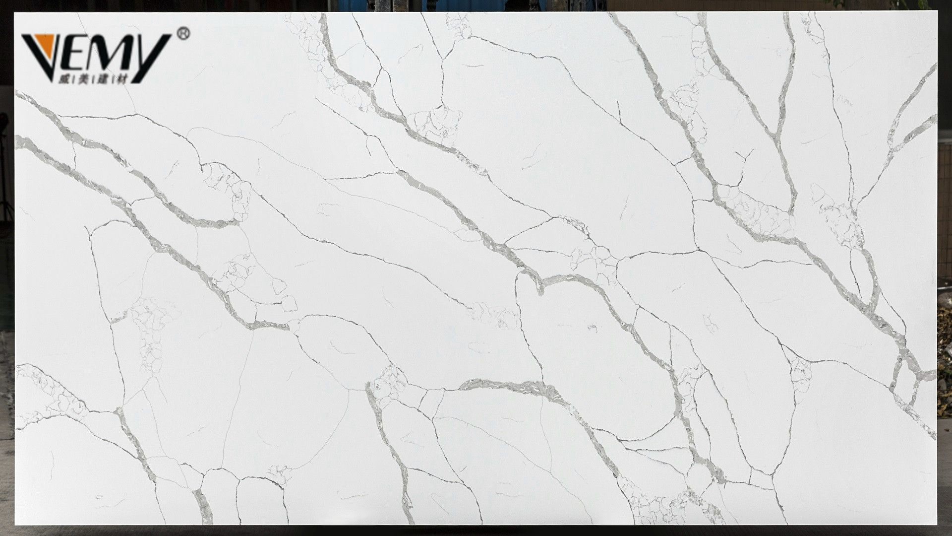 Artificial Quartz Calacatta White Slabs