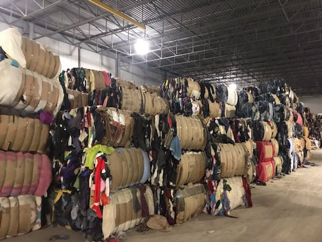 1,800,000 pounds of Baled clothes