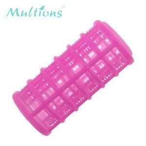 3.0cm 8pcs Plastic pink DIY hair styling hair roller curlers