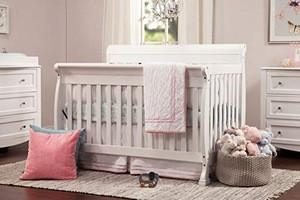 4-in-1 Convertible Crib, White crib protector baby,white crib baby
