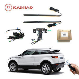 Automotive aftermarket hands free power liftgate with foot sensor device for Range Rover Evoque