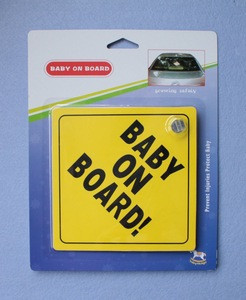 Baby on board car signs, baby in car sticker