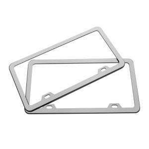 BAORUI Wholesale custom  stamping stainless steel license plate frame