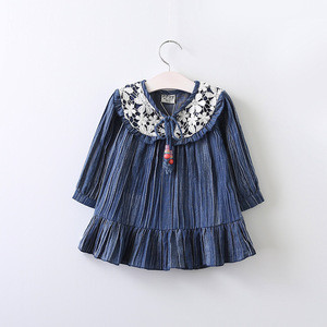 BSD1539 2017 new type hot sale popular baby dress picture children clothing