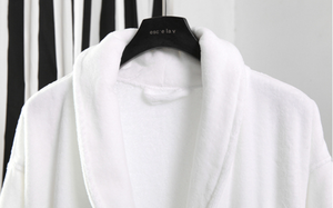Chinese Manufacture Luxury Hotel 100% Cotton Velour Bathrobes