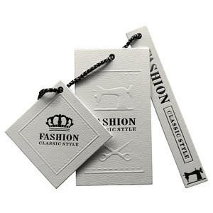 Custom Logo Art Paper Clothing Swing Hang Tags
