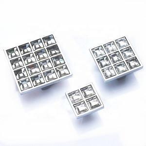 Drawer Pulls Cupboard Door Brass Knob Wardrobe Crystal Diamond Shoebox Cabinet Handle