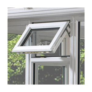 European style aluminum black awning ventilation windows double glass top single hung door and window