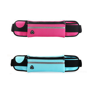 Fashion neoprene reflective cycling running waist belt bag for men women