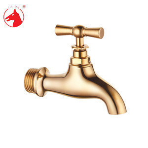 High quality brass color wall tap water bibcock
