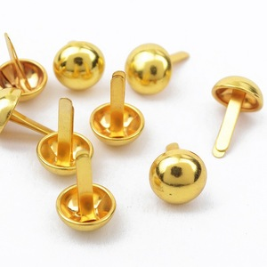 High quality double feet round bronze metal rivet