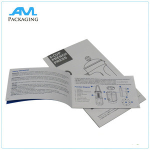 High Quality Paper Printed Color Unique Brochure Maker User Manual Printing