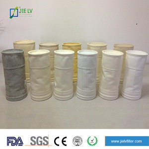 High quality PP/PE/PPS/PTFE/Glass fiber Acrylic fiberglass/antistatic polyester nonwoven filter bag for cement plant