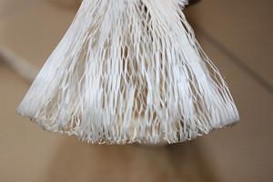 Knotless low smoke zero halogen flame retardant polypropylene cable filler yarn