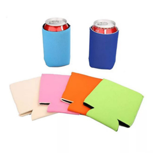 Newest Fashion custom promotional 3mm printing neoprene insulated foldable can cooler/holder