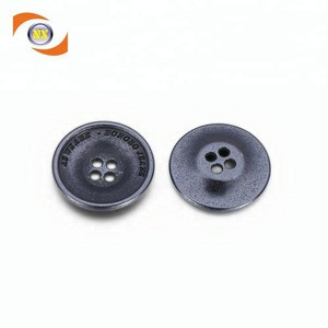 No MOQ Factory supply 4 hole antique alloy sew button with logo