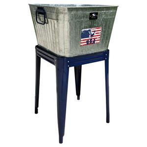 OEM beverage wine metal ice bucket with stand