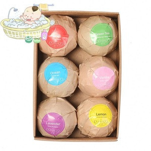 Organic natural New Natural organic customized   Bath Bombs Kit for Spa Bath