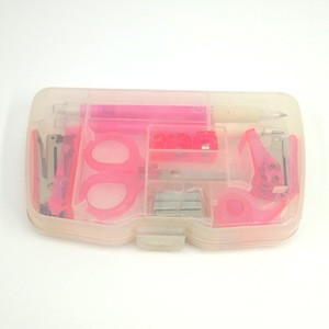 Plastic combination mini office stationery set
