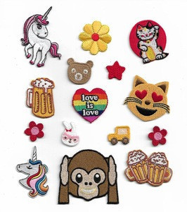 Promotion Eco-Friendly feature cute stickers embroidery cartoon patches for kids clothing