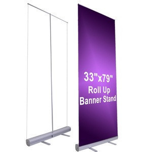 PVC Banner Roll Up, Aluminium Alloy Stand Display Retractable Banner