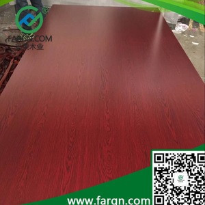 Red Colored Melamine MDF/Red Melamine MDF Board from Linyi