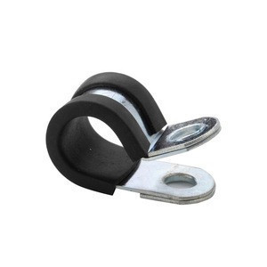 Steel Rubber Hose Clamp with Rubber Cushion